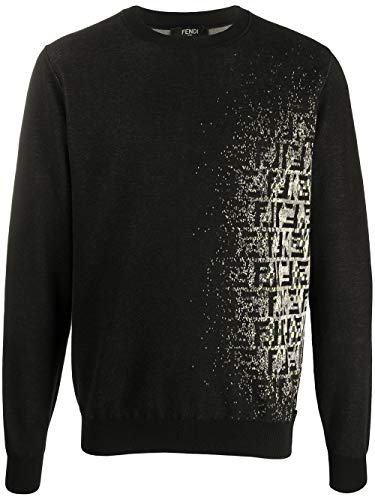 Fendi Luxury Fashion Herren FZY078ABDIF0QA1 Schwarz Sweater | Frühling Sommer 20