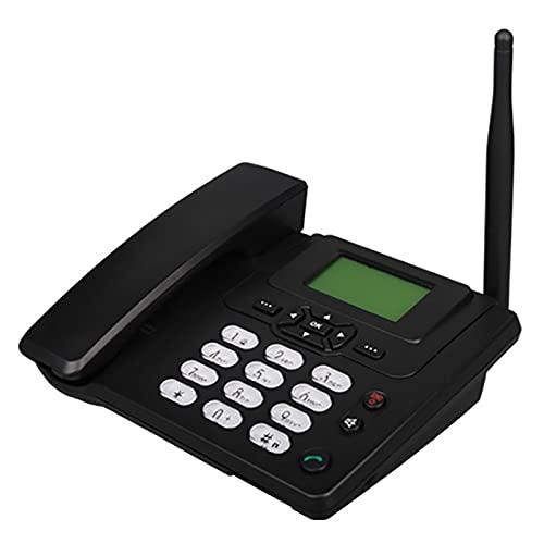 Teléfono inalámbrico fijo, radio Multi-idioma, teléfono de escritorio, batería recargable, pantalla retroiluminada grande, radio