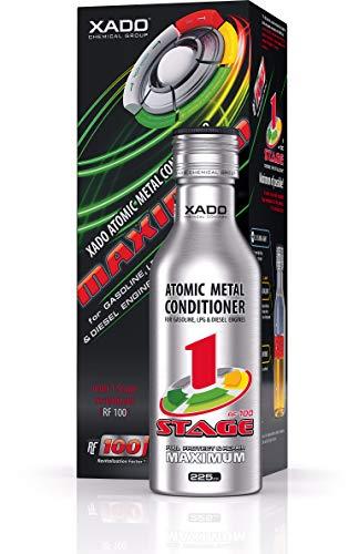 XADO Motor-Verschleißschutz 1 Stage Maximum Atomarer Metallconditioner mit Revitalizant - Aufbau verschlissener Oberflächen & extremer Verschleißschutz des Motors (Flasche, 225 ml