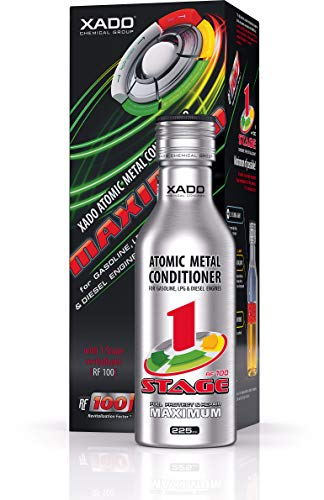 XADO Engine Oil additive - Protection for Engines - additive for wear Protection & rebuilding of Worn Metal Surfaces - Metal Conditioner with Revitalizant 1Stage Maximum (up to 5qt of Oil Capacity)