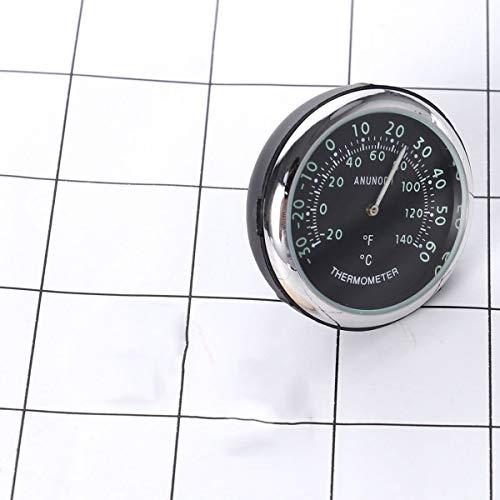 Vosarea Auto Armaturenbrett Uhr Luftauslass Thermometer Auto Elektronische nachtleuchtende Thermometer Leuchtzeiger