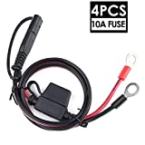 LotFancy SAE to O Ring Terminal Harness with 10A Fuse, 4PCS Battery Charger Cable, SAE Connectors Extension...