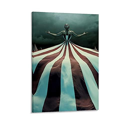 QHJJ Póster de circo de American Horror Story y arte de pared, diseño moderno de circo, 60 x 90 cm