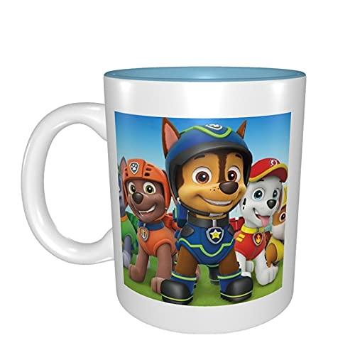 Taza de cerámica de Paw Patrol suave de porcelana helada, taza de té para oficina y hogar regalo de salud capacidad máxima 330 ml