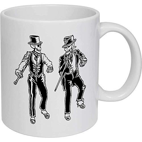 Taza de café, taza de té, diseño de esqueletos de baile de grifo, taza de viaje, regalo para mujeres y hombres