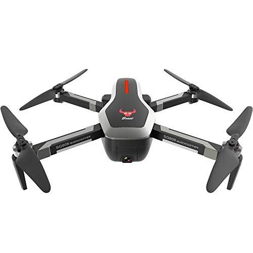 SG906 Professionelle GPS RC Drohne mit Dual 4K Kamera, FPV WiFi Echtzeit Live Video Brushless Fernbedienung Quadcopter mit GPS Optical Flow Positionierung