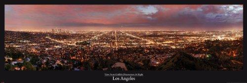 empireposter - Los Angeles - Griffith Observatory - Größe (cm), ca. 158x53 - Türposter, NEU -