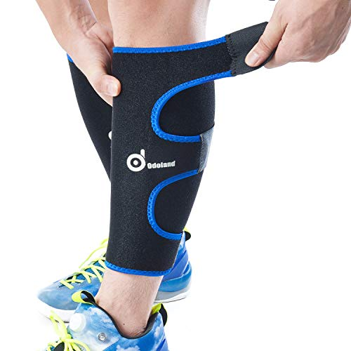 Odoland Calf Compression Sleeve Calf Brace for Calf Pain Relief Strain, Sprain, Tennis Leg and Calf...