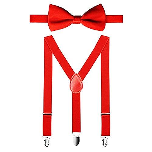 Straccali bretels voor kinderen - pak - strikje y - straccali bracelle elastiek verstelbaar - origineel geschenkidee - effen kleur