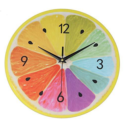 Belleashy - Reloj de pared infantil creativo, diseño de círculo de casa, oficina, decoración de reloj del profesor Easy Learn Time