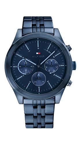 Tommy Hilfiger Mannen Multi Wijzerplaat Quartz Horloge met RVS Band 1791739