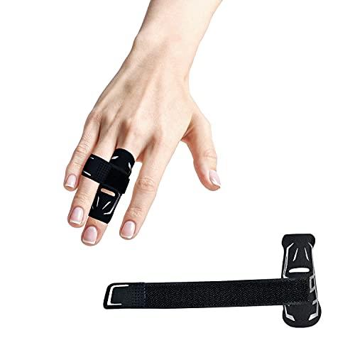 Verte Life Fingermanschette Fingerschutz Unterstützung verhindert Sportverletzungen, Elastische Atmungsaktive Fingerschutz Schmerzlindernde Fingerschützer für Basketball Volleyball, Schwarz/M