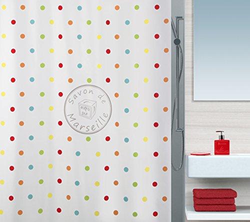 Spirella FRIOUL Duschvorhang, 180 x 200 cm, Polyester, Mehrfarbig