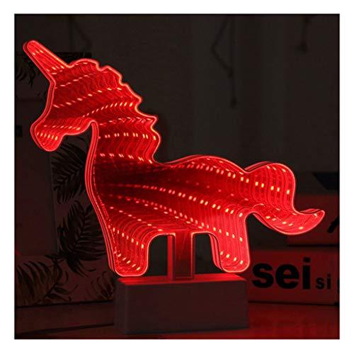 WANGF Señales de Neón Espejo de Múltiples Capas Letreros de Neón Túnel Creativo Luces de Neón Extensión Infinita Luz de Noche Abismo Base de Batería Luces de Neón Lámpara de Mesa Decorativa