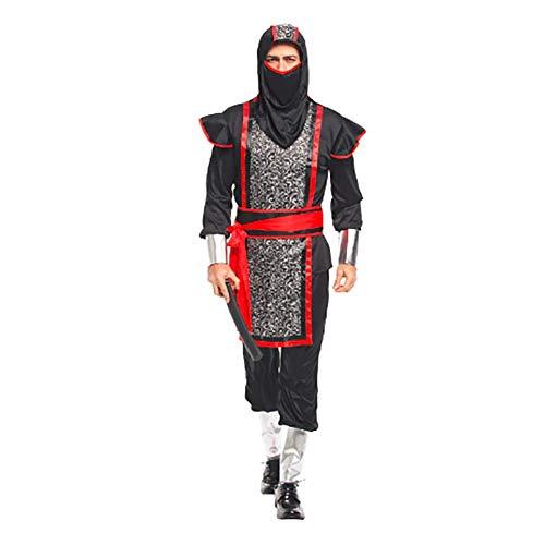 IFANSTYLE Japanse Ninja Samurai Kleding Cosplay Kostuum Halloween Carnaval Party Stage Kostuum Man Zwart pak