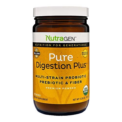 Nutragen - Pure Digestion Plus Multi Probiotics, Fiber Powder (Unflavored, 12.35 oz)