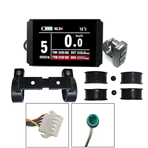 Schuck Ebike 24V 36V 48V KT Display Programmable Regenerative Controller Colorful LCD8H LCD Control Panel Electric Bike (WP)