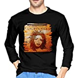 Caiondliil Men Long Sleeve Shirts Logo of Lauryn Hill The Miseducation of Lauryn Hill Round Neck Shirt M Black