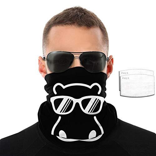 Hippopótamo con gafas de sol para hombre y mujer, deportes al aire libre, resistente al viento, transpirable, variedad de toallas