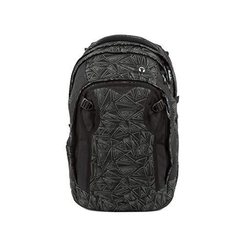 satch Match, Ninja Bermuda ergonomischer Schulrucksack, erweiterbar auf 35 Liter, extra Fronttasche