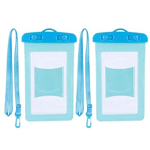 Mothinessto Tamaño estupendo de Bolsa del teléfono del Bolso del teléfono de los Deportes acuáticos con Cuerda Colgante para el teléfono Celular(Azul)