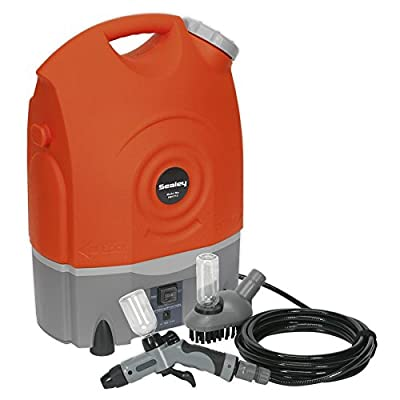 Sealey PW1712 Rechargeable Pressure Washer, 12V, 17L Capacity, Grey/Orange by Sealey