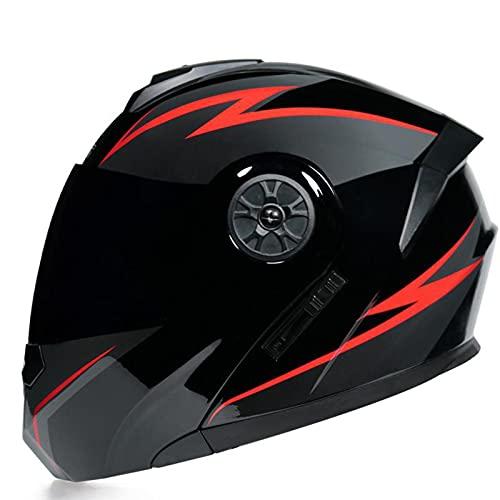 XRDSHY Cascos Jet De Motocicleta De Cara Abierta Moto Integral ECE Aprobado con Doble Visera para Ciclismo Bicicleta Eléctrica para Mujer Hombre Adultos,Red C-M