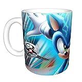 Taza de café con cita alegre, diseño de Sonic The Hedgehog