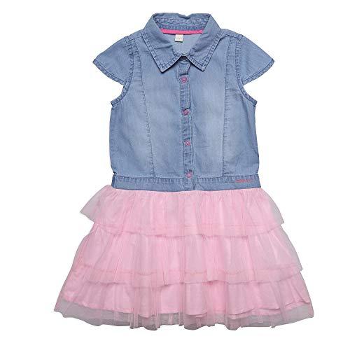 Esprit Kids Mädchen Denim Dress Kleid , Blau (Medium Wash Denim 463) , 116/122 (Herstellergröße: 6-7 Jahre)