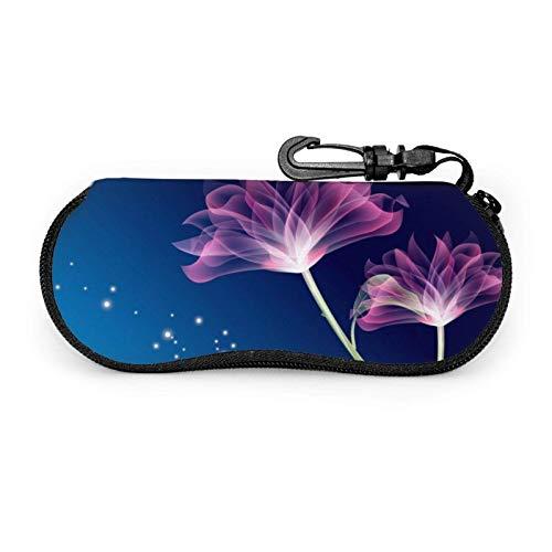 AEMAPE Estuche para gafas Lotus Pattern Unisex Portátil Neopreno Cremallera Gafas de sol Estuche blando