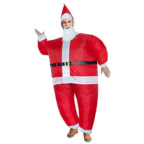 TwoCC Navidad Inflable para Niños Adultos Halloween Navidad Cosplay Fiesta Navideña Muñeco de Nieve Ropa...