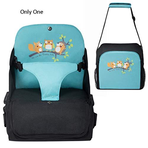 TMY chaises hautes Chaise de Salle à Manger pour bébé Multifonction Pratique pour Sortir Le Sac Augmentation du Coussin Peut Se Replier dans Une boîte de Rangement portative (Color : Green)