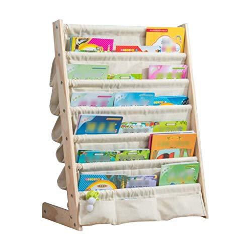 LQH , De Madera Maciza de Kinder Simple de estantería Librerías niños de Dibujos Animados de multifunciones Planta Libro de imágenes del bebé Bo (Color : B, Size : 75 X 30 X 79Cm)
