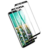 PUUDUU Protector de Pantalla para Samsung Galaxy S8, [2 Pack] Cristal Templado para Samsung Galaxy S8, Vidrio Templado, 3D Cobertura Completa, Anti-Scratches, Sin Burbujas