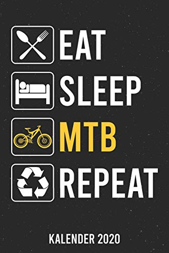 Kalender 2020: Eat Sleep MTB A5 Kalender Planer für ein erfolgreiches Jahr - 110 Seiten