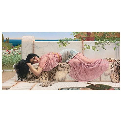 Legendarte - Stampa su tela - When The Heart Is Young - John William Godward - Quadro su Tela, Decorazione Parete cm. 50x100