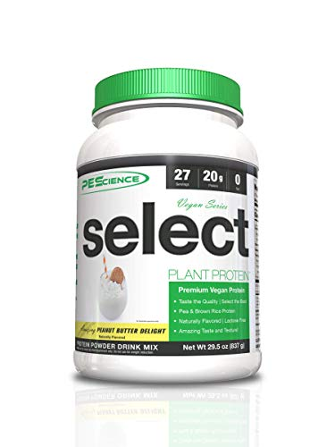 PEScience Select Protein Vegan Series 27 Servings Sports Supplement, 1 kg, Peanut Butter, PES1027/100/104
