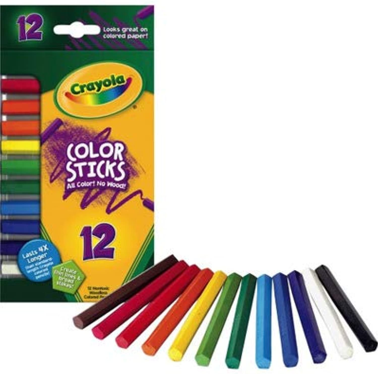 Woodless color Pencils, Assorted, 12 Pack