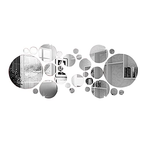 YUEWEIWEI 2 6PCS Espejo de Arte, Pegatinas de Pared de Espejo 3D, Bricolaje Home Decorative Acrylic Espejo, para el Dormitorio de la Sala de Estar para el hogar TELEVISOR Ajuste de la decoración de l