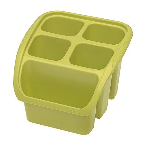 OKT 2053766 Panier aux vaisselles en Vert Plastique