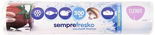 Clendy - Semprefresco, Sacchetti Freezer Maxi 28X42 Cm - 300 Pezzi