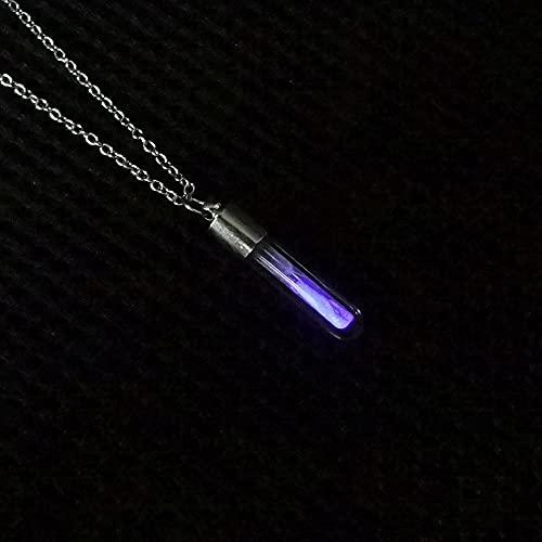 MIKUAB collarResplandor en el Oscuro Reloj de Arena Collar con Colgante de Vidrio Collar de Cadena Luminosa Colgante de joyería de Las Mujeres Regalos de Accesorios