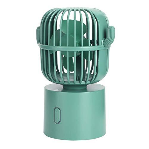 Ventilador, Portátil USB Recargable Escritorio Ventilador eléctrico Mini refrigeración Fan Oscilating para el hogar Uso de oficina verde