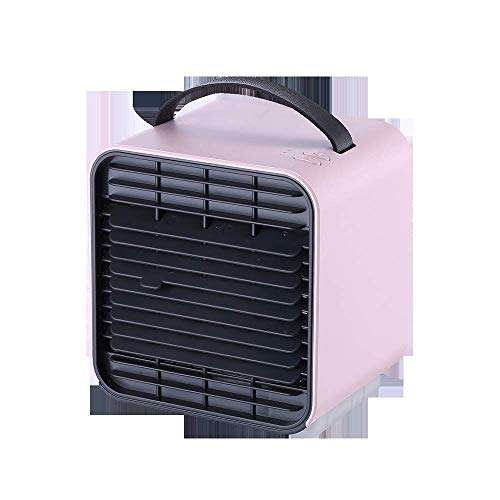 SLRMKK Air Cooler, 4-in-1 Portable Air Cooler Portable Air Conditioner, Mini Electric Fan Quiet For Personal Spaces For Office Bedroom, Pink