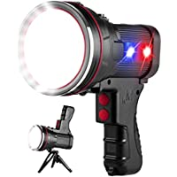 OCSMT 6000 Lumens Super Bright Rechargeable Spotlight with Foldable Tripod
