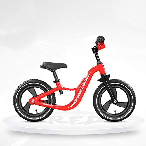 RCIN Baby Balance Bike,No Pedal Red Training Children Cycles with Adjustable Seat Folding Handle Pneumatic Tire for 2 3 4 5 6 Years Old Toddler Boys Girls First Best Gift