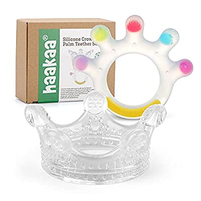 Haakaa Silicone Crown and Palm Teether Set 2PK ...
