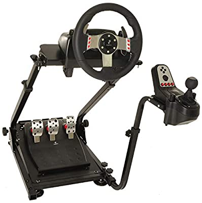 Marada Elbow Racing Wheel Stand Apply to G29, G27 and G25 Driving Simulator Stand Steering Wheel Stand Without Wheel and Pedals