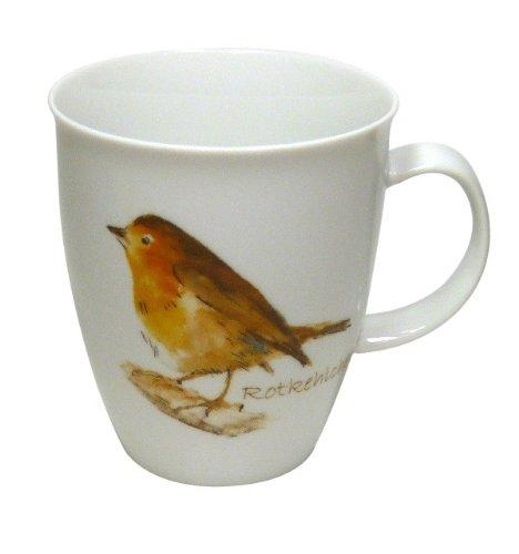 Cup und Mug Tasse Singvögel Rotkehlchen 400ml