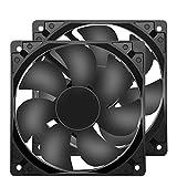 冷却ファン120mm 12cm 静音 12025 DC 12V 120x120x25mm 2ピンパソコン用 2個入り